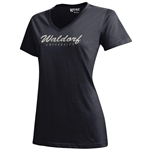 Black V-Neck Womens Tee